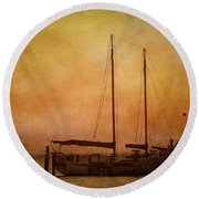 Pensacola Harbor Round Beach Towel