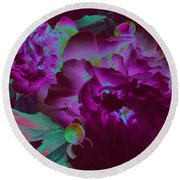 Peony Passion Round Beach Towel by First Star Art