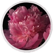 Round Beach Towel featuring the photograph Peony by Rona Black