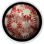 Peppermint Candy Baseball Square Round Beach Towel by Andee Design