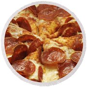 Pepperoni Pizza 1 Round Beach Towel
