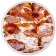 Pepperoni Pizza 1 - Pizzeria - Pizza Shoppe Round Beach Towel