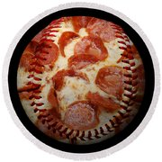 Pepperoni Pizza Baseball Square Round Beach Towel