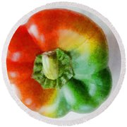 Peppery Allsorts  Round Beach Towel