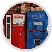 Pepsi Vs Coke Round Beach Towel