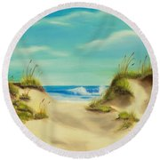 Perfect Beach Day Round Beach Towel