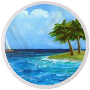 Perfect Sailing Day Round Beach Towel