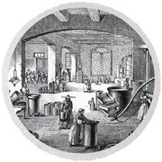 Perfume Factory, 19th Century Round Beach Towel