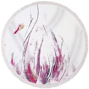 Perfume Poured Out Round Beach Towel