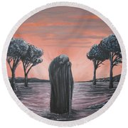Perils Of Perdition Round Beach Towel