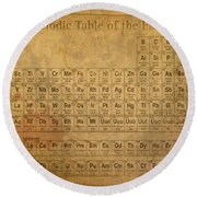 Periodic Table Of The Elements Round Beach Towel
