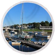 Perkins Cove Ogunquit Maine 2 Round Beach Towel