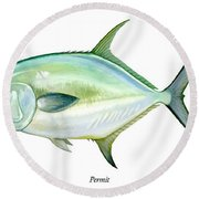 Permit Round Beach Towel