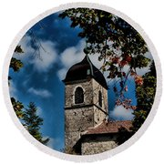 Round Beach Towel featuring the photograph Perouge France  by Tom Prendergast