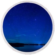 Perseid Meteor Round Beach Towel by Charles Hite