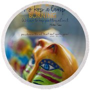 Round Beach Towel featuring the photograph Perseverance by Vicki Ferrari