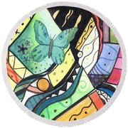 Persistence Of Form Round Beach Towel