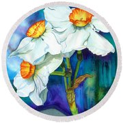 Petal Portrait Round Beach Towel