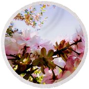 Petals In The Wind Round Beach Towel