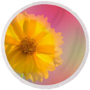 Petals Of Sunshine Round Beach Towel