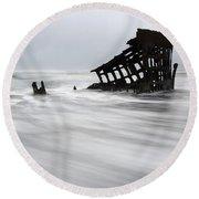 Peter Iredale Shipwreck Oregon 2 Round Beach Towel