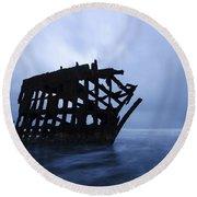 Peter Iredale Shipwreck Oregon 3 Round Beach Towel