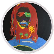 Peter Tosh Bush Doctor Round Beach Towel