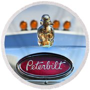 Peterbilt 2 Round Beach Towel