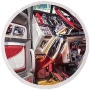 Peterbilt Interior Round Beach Towel