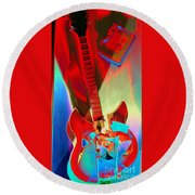 Pete's Guitar Round Beach Towel
