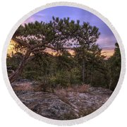 Petit Jean Mountain Bonsai Tree - Arkansas Round Beach Towel