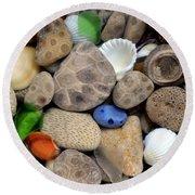 Petoskey Stones Lll Round Beach Towel