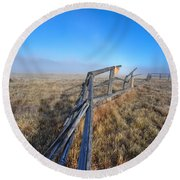 Round Beach Towel featuring the photograph Pettit Fog by David Andersen