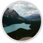 Peyote Lake In Banff Alberta Round Beach Towel