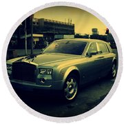 Rolls Royce Phantom Round Beach Towel by Salman Ravish