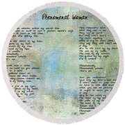 Phenomenal Woman - Blue Rustic Round Beach Towel