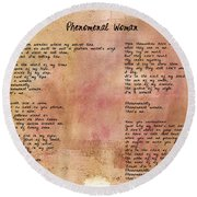 Phenomenal Woman - Red Rustic Round Beach Towel