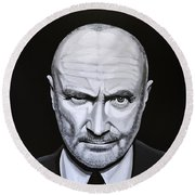 Phil Collins Round Beach Towel by Paul Meijering