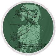 Phil Robertson Duck Call Legacy Round Beach Towel