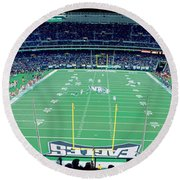 Round Beach Towel featuring the photograph Philadelphia Eagles Nfl Football by Panoramic Images