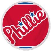 Philadelphia Phillies Baseball Round Beach Towel