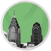 Philadelphia Skyline Liberty Place 2 - Apple Round Beach Towel