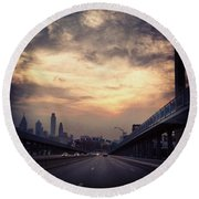 Philly Round Beach Towel by Katie Cupcakes