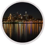 Philly Night Round Beach Towel