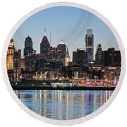 Philly Sunset Round Beach Towel
