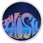 Phish Round Beach Towel