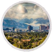 Phoenix Downtown Round Beach Towel