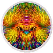 Phoenix Rising  Round Beach Towel