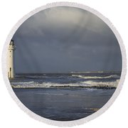 Photographing The Photographer Round Beach Towel by Spikey Mouse Photography