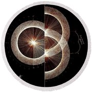 Photon Double Slit Test Hand Drawn Round Beach Towel